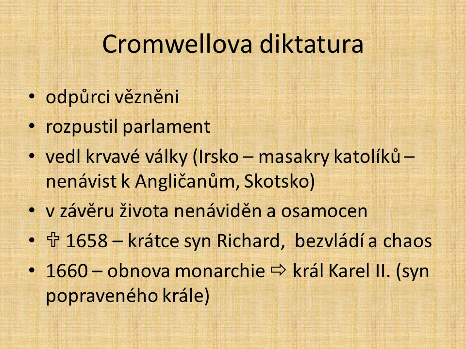 Cromwellova diktatura