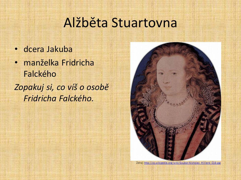 Alžběta Stuartovna dcera Jakuba manželka Fridricha Falckého