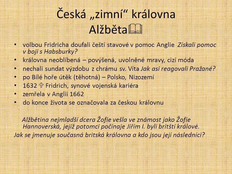 """Česká """"zimní královna Alžběta"""