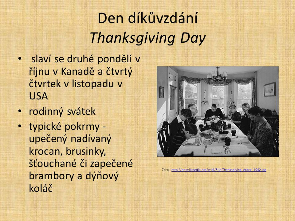 Den díkůvzdání Thanksgiving Day