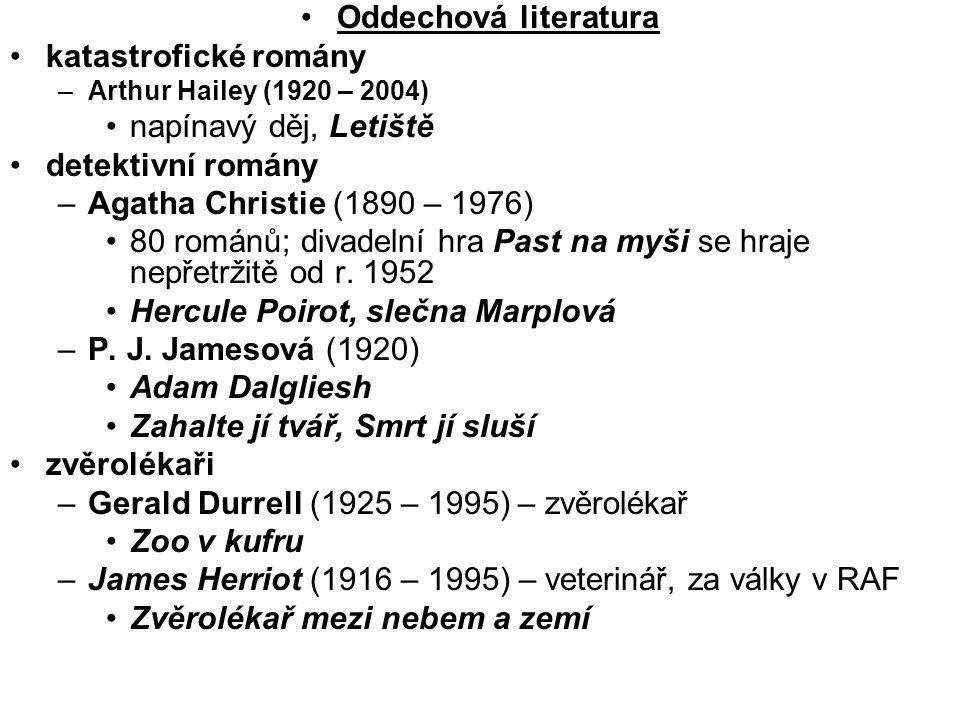 80 románů; divadelní hra Past na myši se hraje nepřetržitě od r. 1952