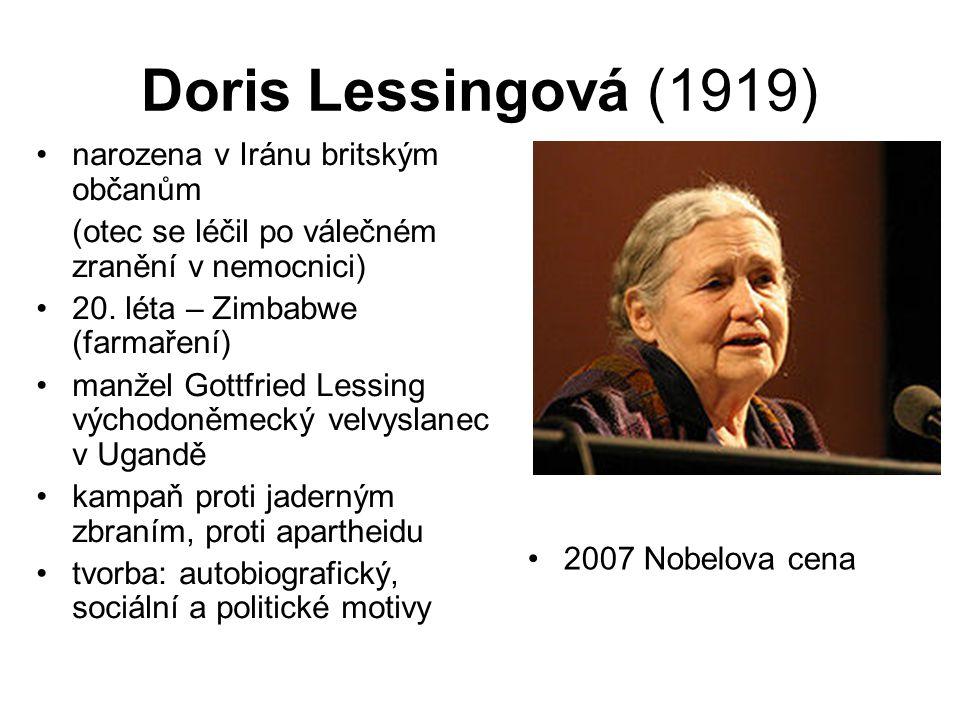 Doris Lessingová (1919) narozena v Iránu britským občanům