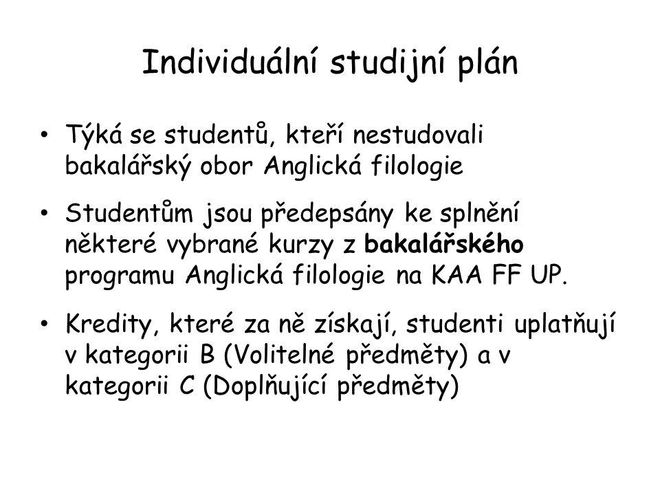 Individuální studijní plán
