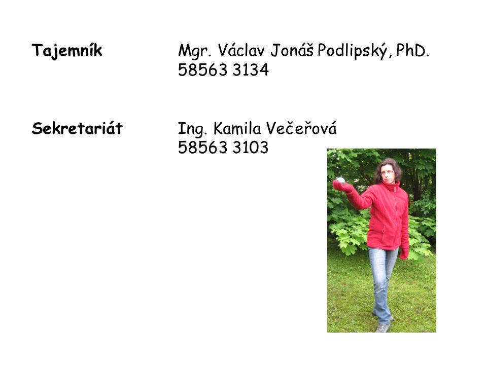 Tajemník Mgr. Václav Jonáš Podlipský, PhD. 58563 3134
