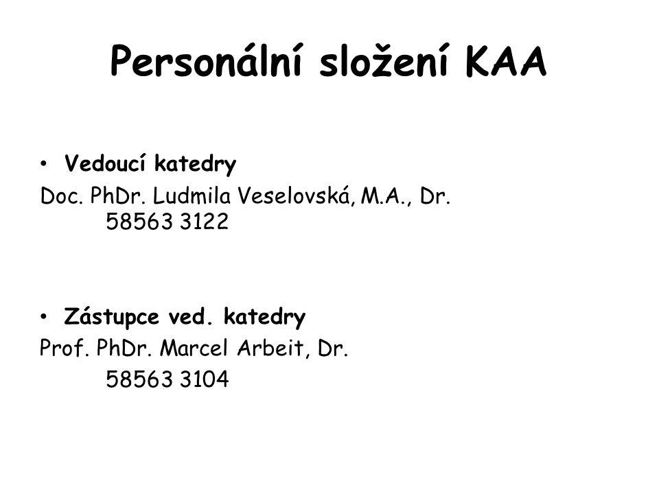 Personální složení KAA