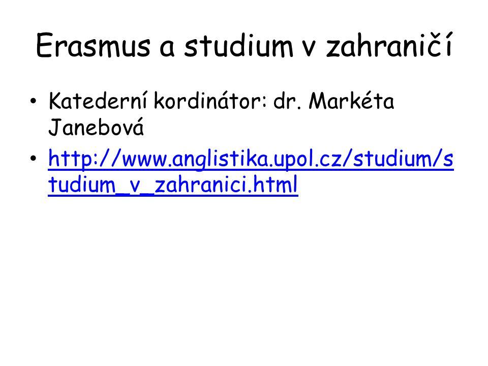 Erasmus a studium v zahraničí