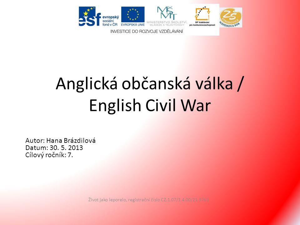 Anglická občanská válka / English Civil War