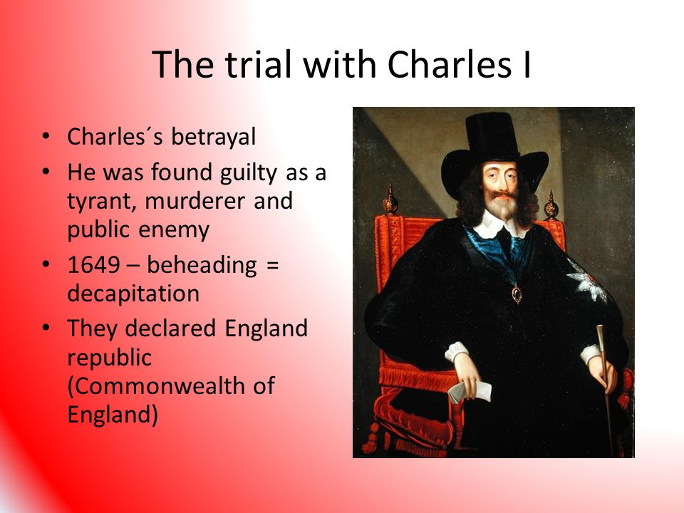The trial with Charles I