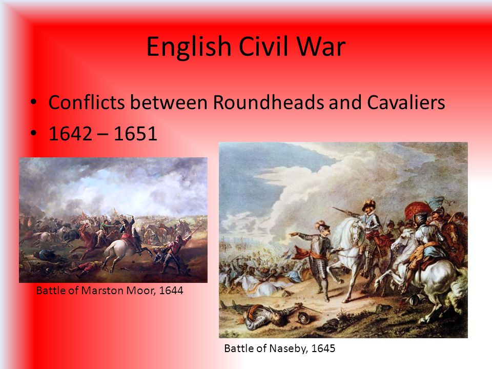 English Civil War Conflicts between Roundheads and Cavaliers