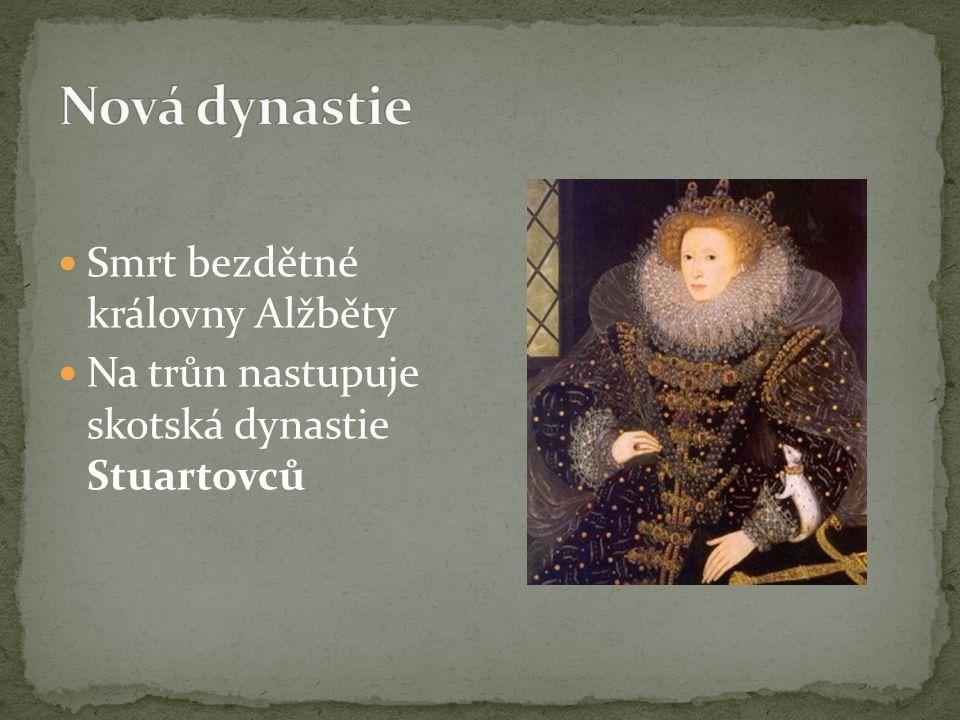 Nová dynastie Smrt bezdětné královny Alžběty