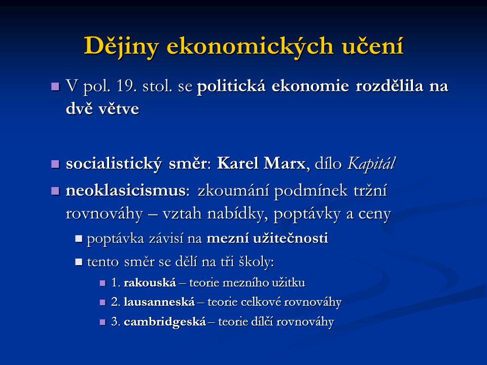 Dějiny ekonomických učení