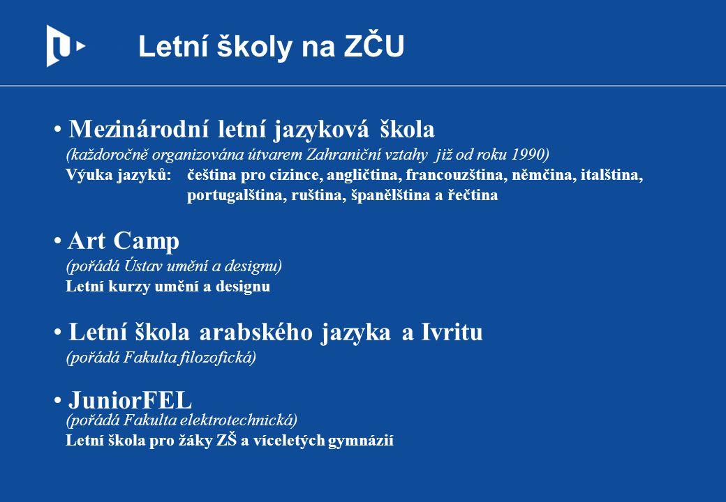 Letní školy na ZČU Mezinárodní letní jazyková škola Art Camp