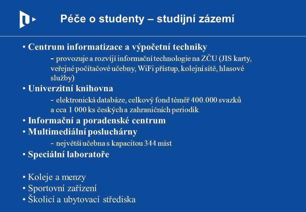 Péče o studenty – studijní zázemí