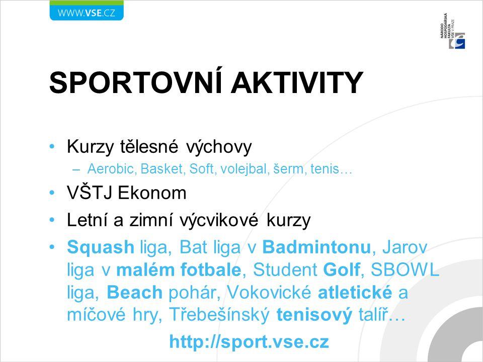 Sportovní aktivity Kurzy tělesné výchovy VŠTJ Ekonom