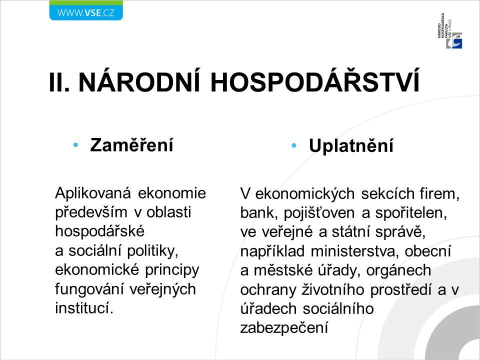 II. Národní hospodářství