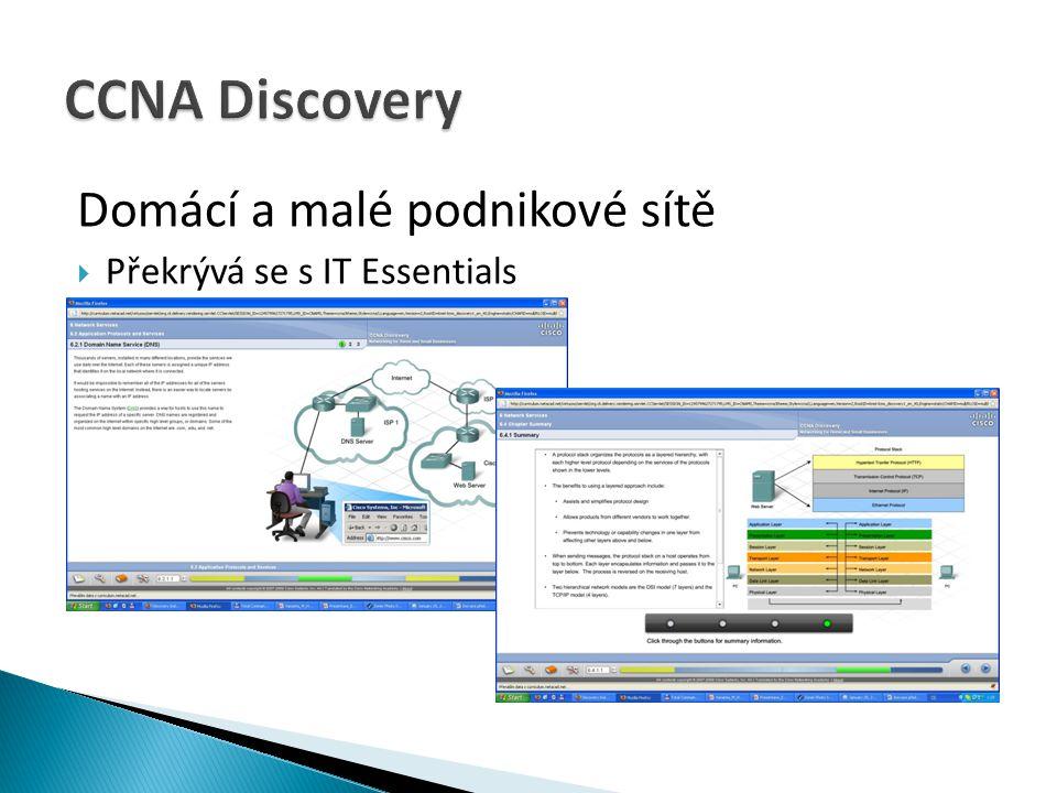 CCNA Discovery Domácí a malé podnikové sítě