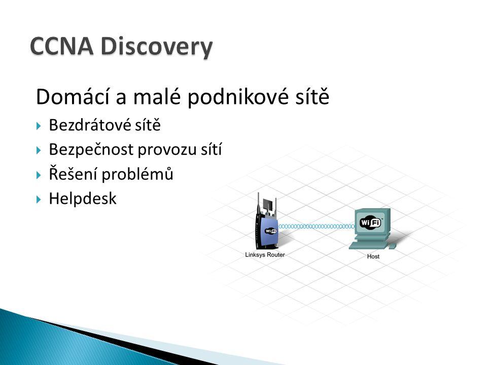 CCNA Discovery Domácí a malé podnikové sítě Bezdrátové sítě