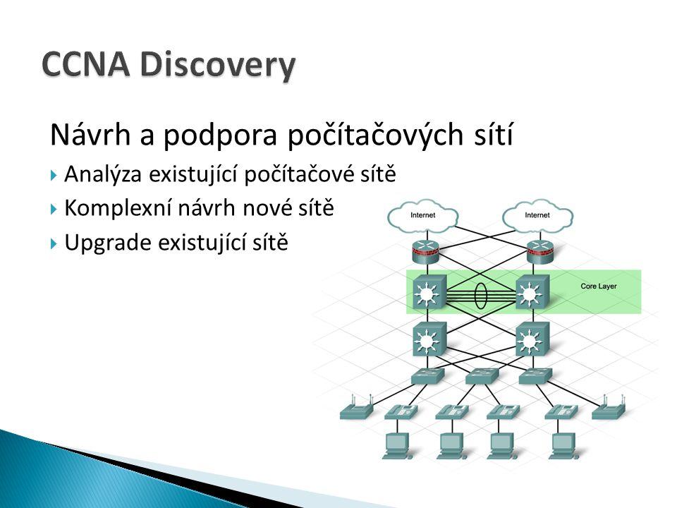 CCNA Discovery Návrh a podpora počítačových sítí