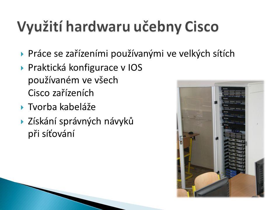 Využití hardwaru učebny Cisco