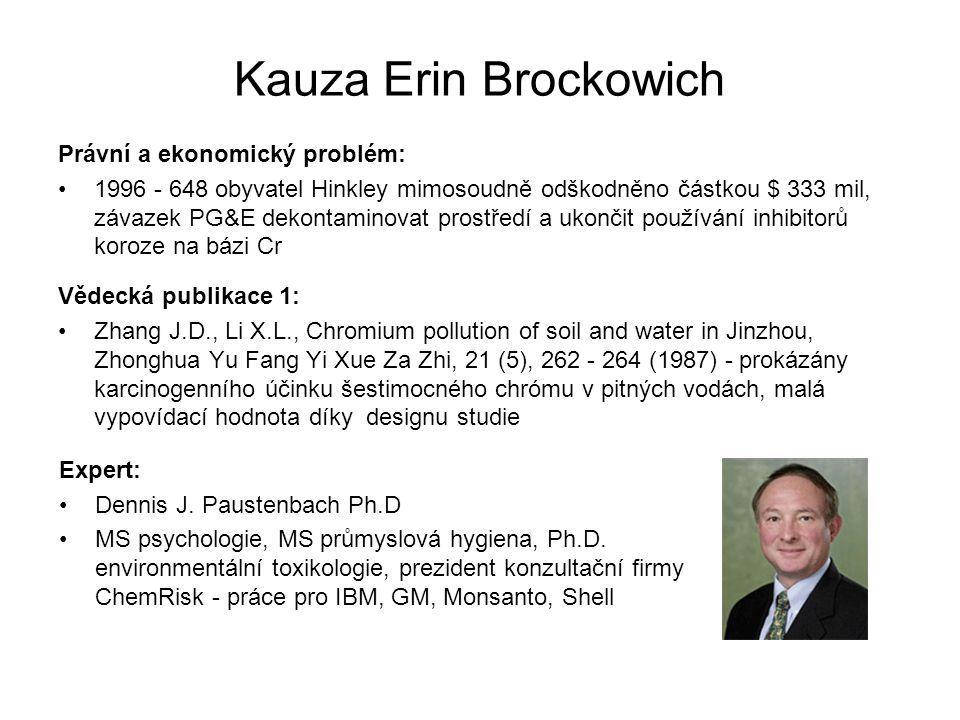 Kauza Erin Brockowich Právní a ekonomický problém: