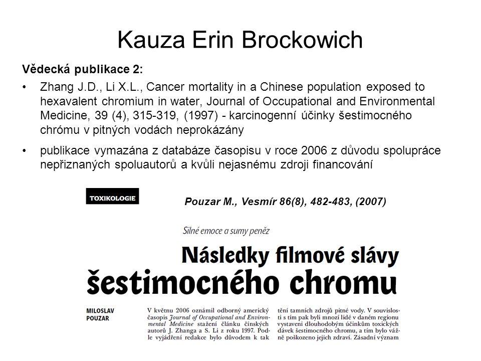 Kauza Erin Brockowich Vědecká publikace 2: