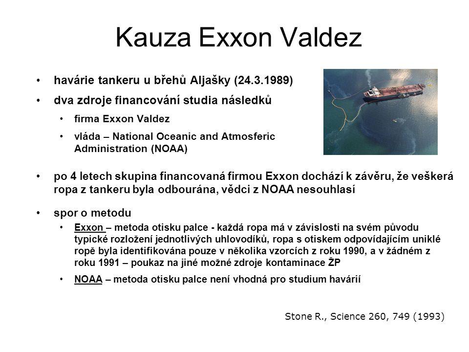 Kauza Exxon Valdez havárie tankeru u břehů Aljašky (24.3.1989)