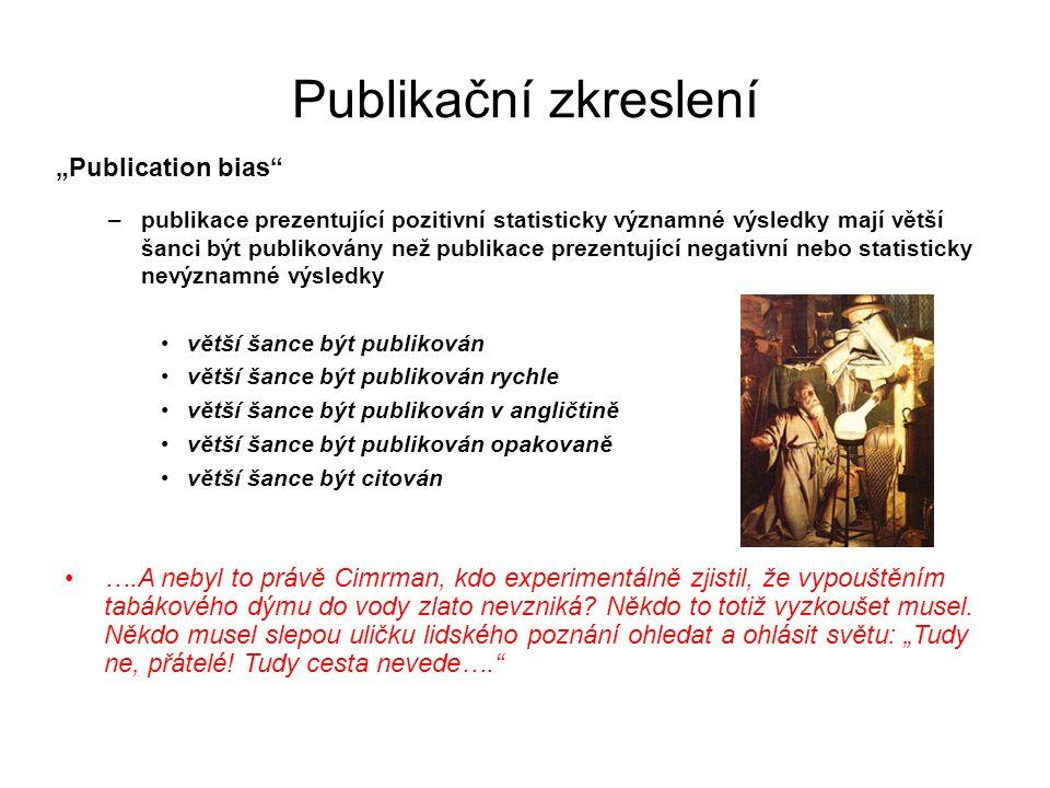 """Publikační zkreslení """"Publication bias"""