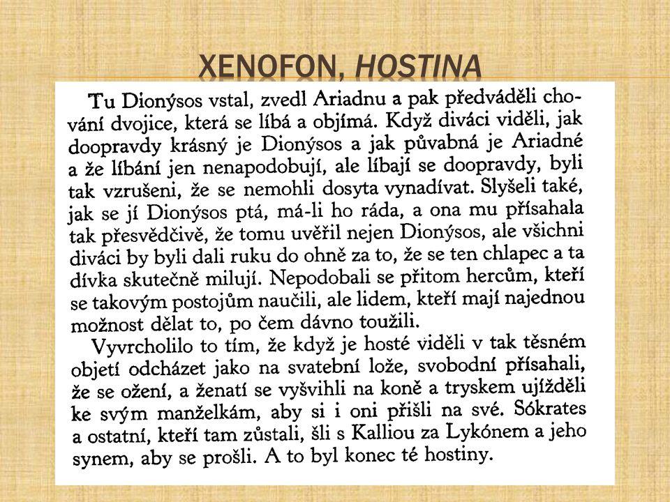 Xenofon, Hostina