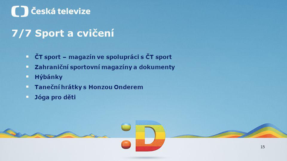 7/7 Sport a cvičení ČT sport – magazín ve spolupráci s ČT sport