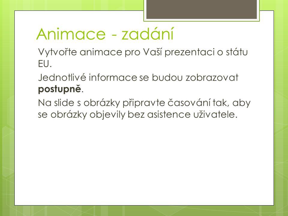 Animace - zadání