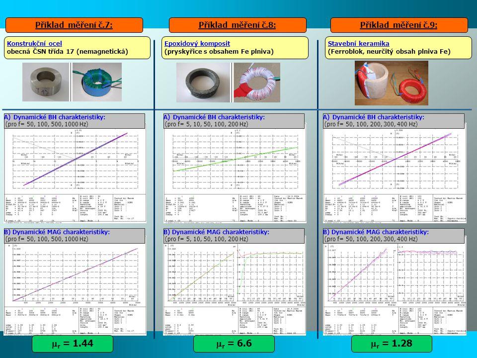 mr = 1.44 mr = 6.6 mr = 1.28 Příklad měření č.7: Příklad měření č.8: