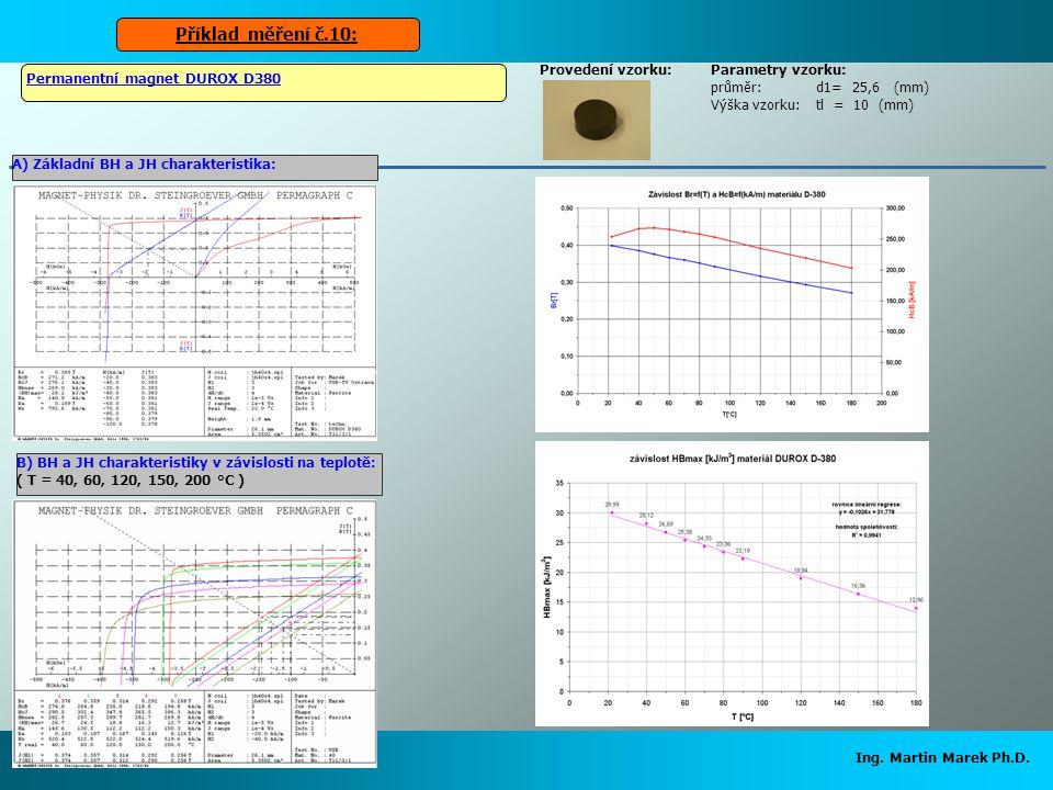 Příklad měření č.10: Ing. Martin Marek Ph.D. Provedení vzorku: