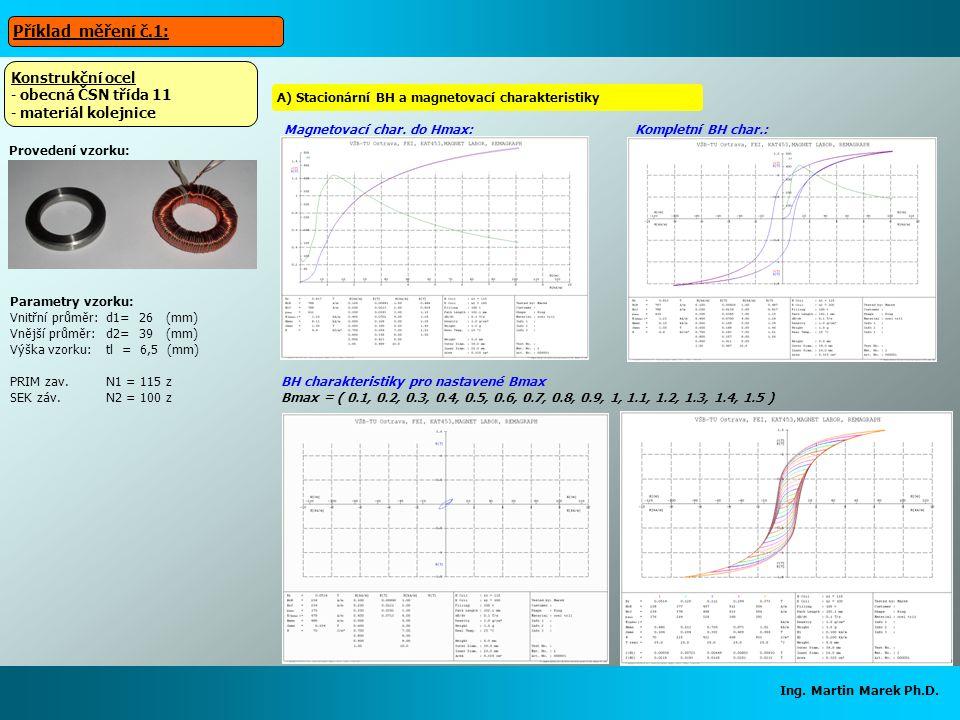 Příklad měření č.1: Konstrukční ocel obecná ČSN třída 11
