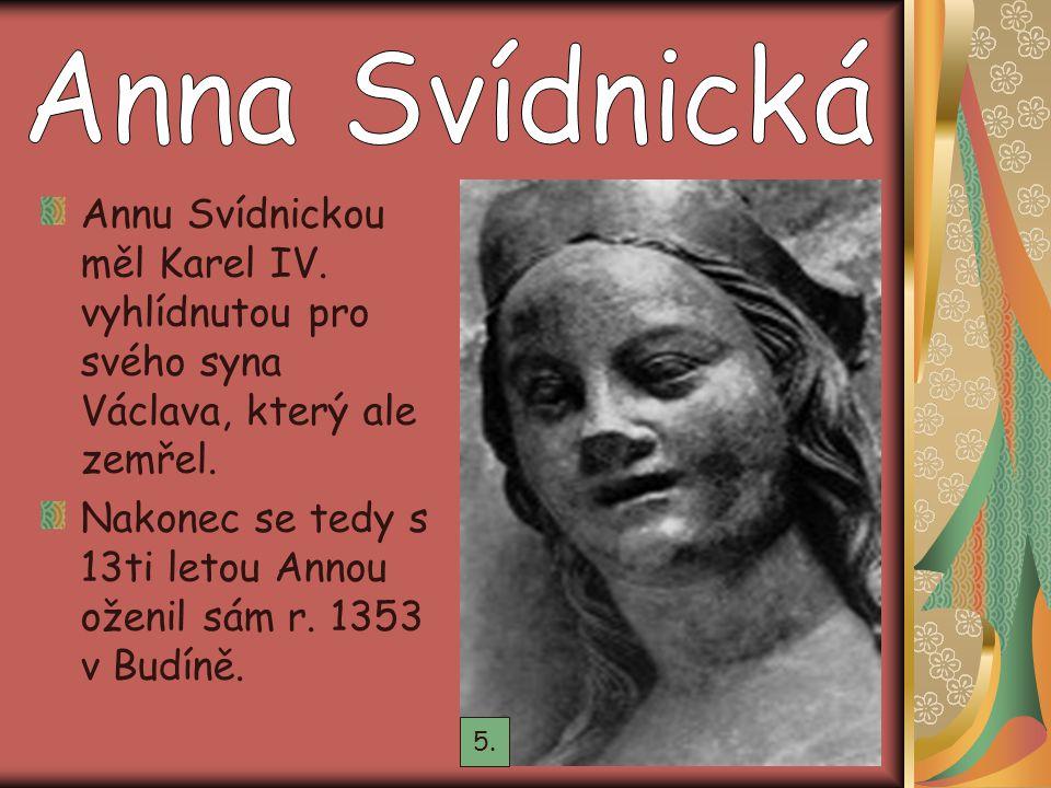 Nakonec se tedy s 13ti letou Annou oženil sám r. 1353 v Budíně.
