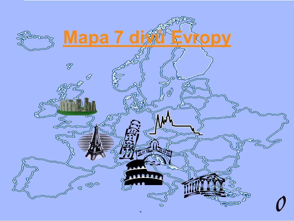 Mapa 7 divů Evropy