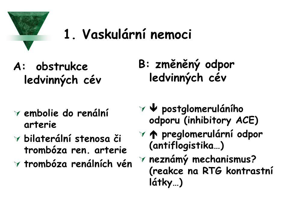 1. Vaskulární nemoci B: změněný odpor ledvinných cév