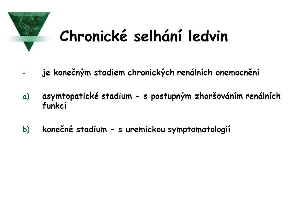 Chronické selhání ledvin