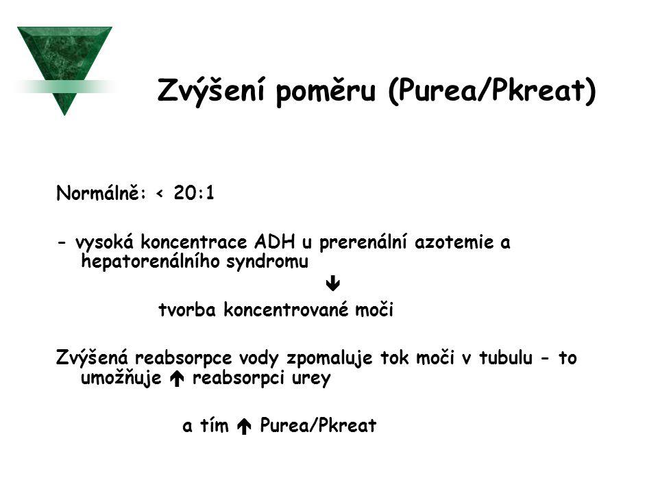 Zvýšení poměru (Purea/Pkreat)