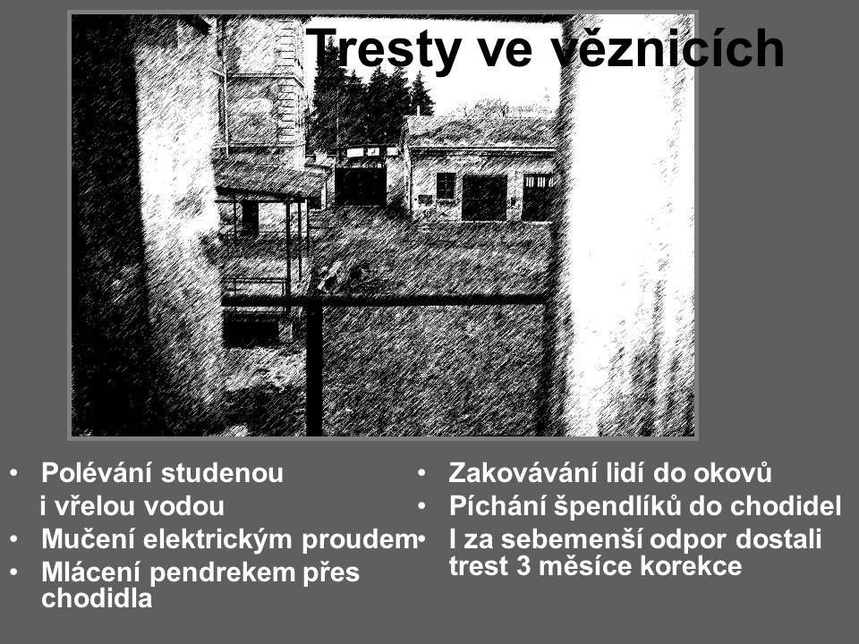 Tresty ve věznicích Polévání studenou i vřelou vodou