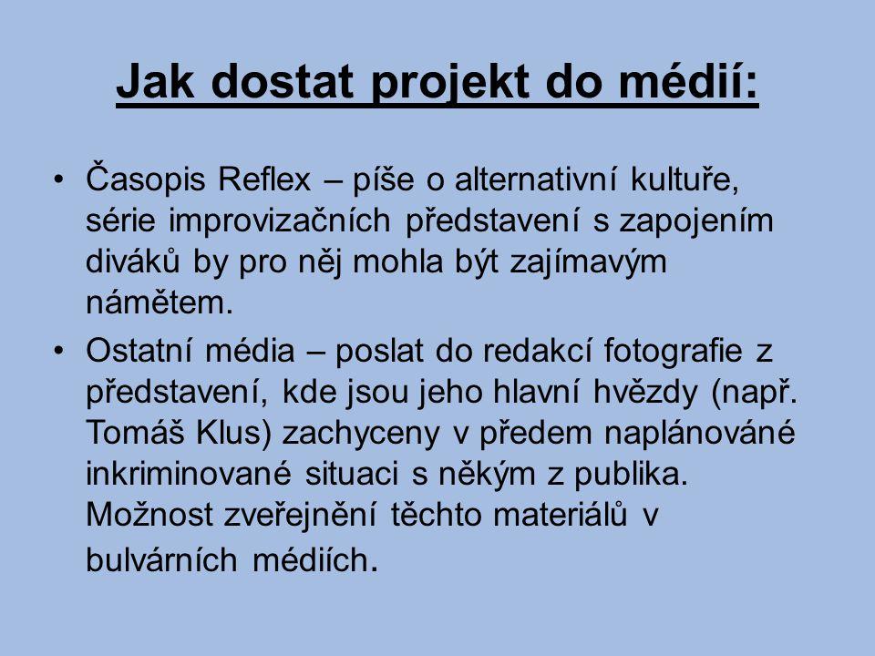 Jak dostat projekt do médií: