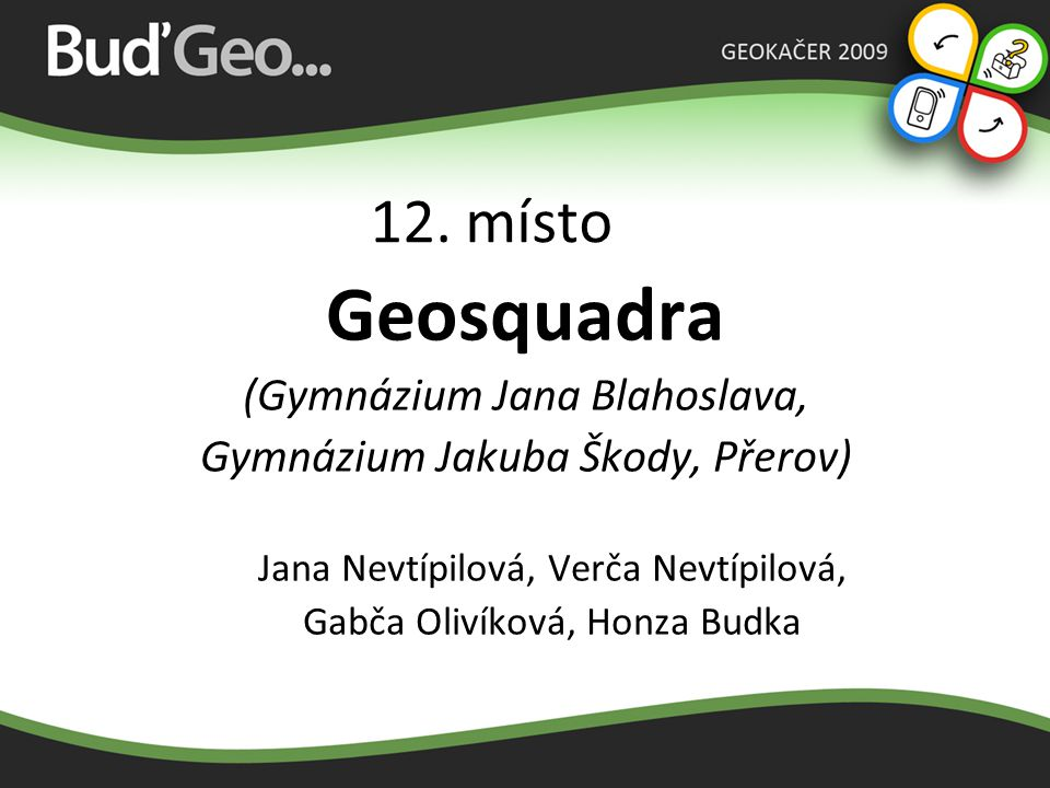 Geosquadra 12. místo (Gymnázium Jana Blahoslava,