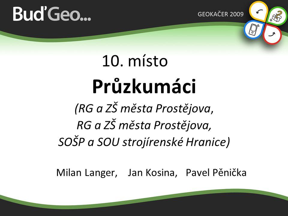 Průzkumáci 10. místo (RG a ZŠ města Prostějova,