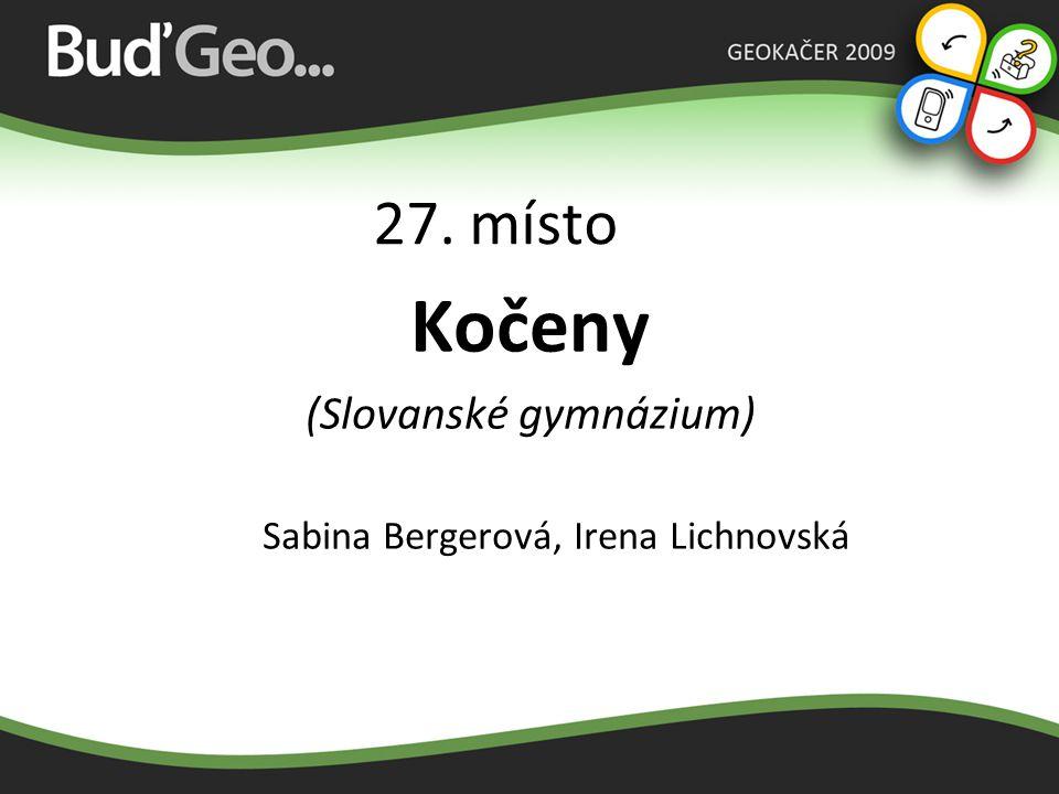 Kočeny 27. místo (Slovanské gymnázium)
