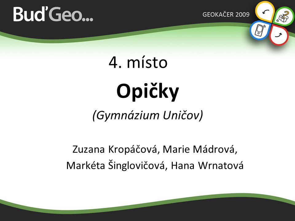 Opičky 4. místo (Gymnázium Uničov) Zuzana Kropáčová, Marie Mádrová,
