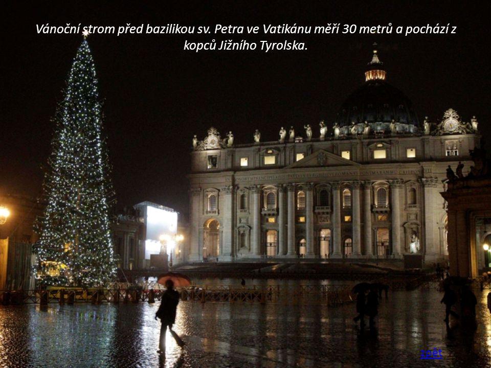 Vánoční strom před bazilikou sv