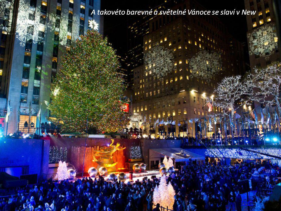 A takovéto barevné a světelné Vánoce se slaví v New Yorku…