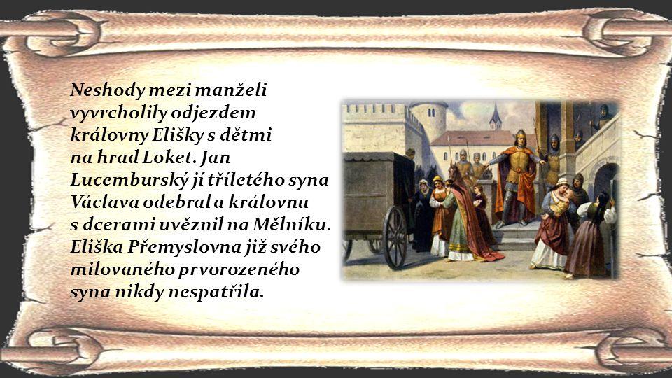 Neshody mezi manželi vyvrcholily odjezdem královny Elišky s dětmi
