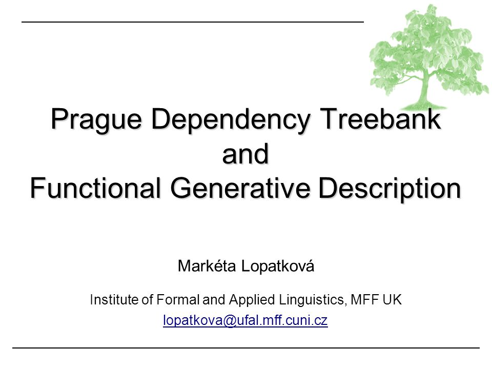 Prague Dependency Treebank and Functional Generative Description