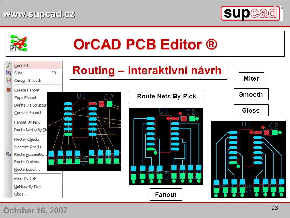 Routing – interaktivní návrh