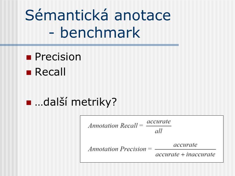 Sémantická anotace - benchmark